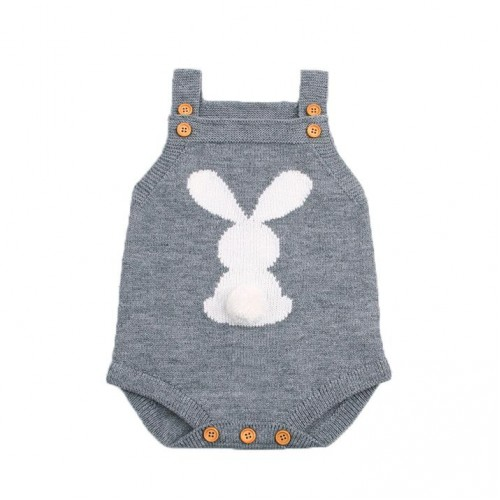 Abele Knitted Romper - Gray