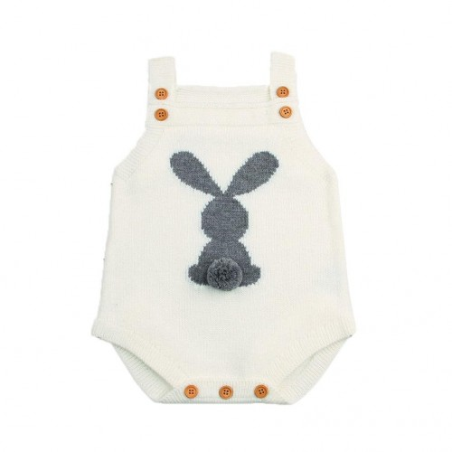 Abele Knitted Romper - White
