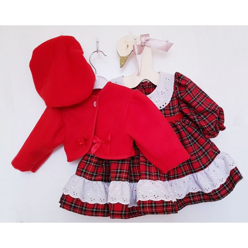 Beatrix TARTAN DRESS, BOLERO & BERET